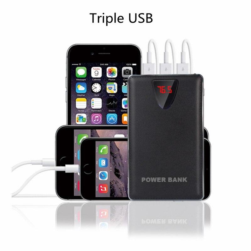 2017 3USB Mobile Power Bank 20000mAh powerbank portable charger external Battery 20000 mAH mobile phone charger