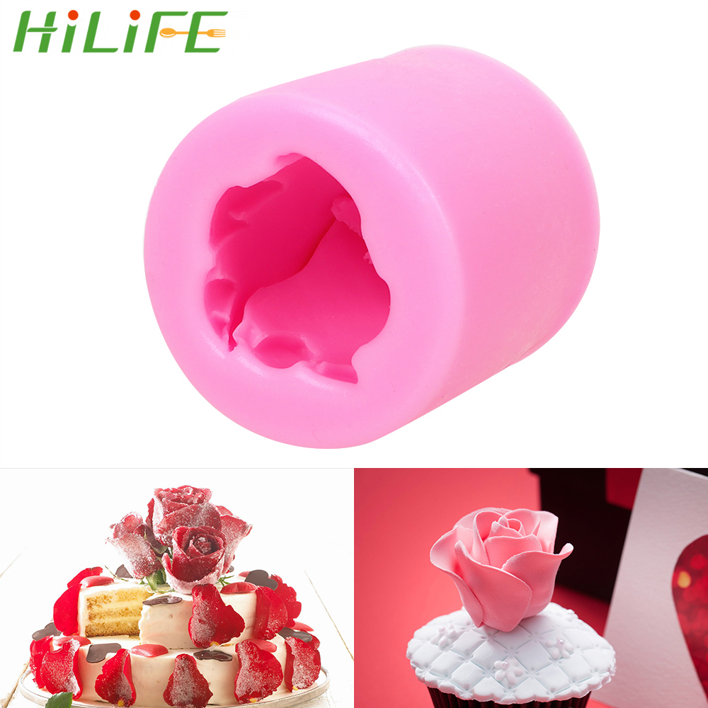 HILIFE Cookie Soap Fondant  Mould Pastry Cake Decorating Tool Kitchen Accessories 3D Rose Flower Form Cake Silicone Mold