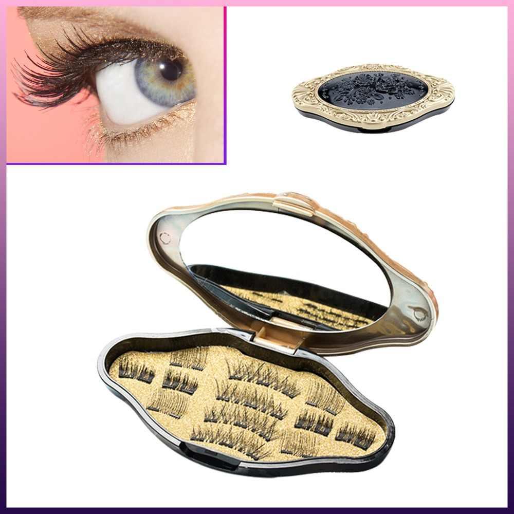 a1eacfb53c0 3D Mink Makeup Magnetic Eyelashes magnet false lashes Dual Triple Magnet  Eye Lashes Ultra Thin Reusable