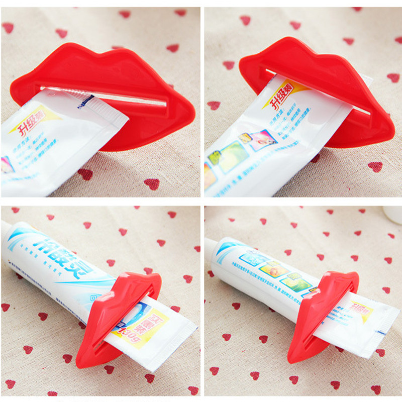 1pcs Creative Lip Toothpaste Squeeze Multi-purpose Extrusion Device Toothpaste Gels Cream Lotion Squeezer #708