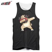 UJWI Mens Fashion Dog Tank Top Animal 3D Printing Hipster Funny Casual Summer Fitness Vest Men Clothing Large Size 5XL