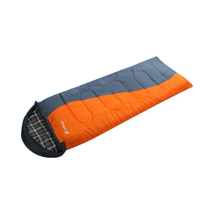 ФОТО Single Sleeping Bag Cotton Sleeping Bag Spliced Outdoor Sleeping Bags Winter Sleeping Bag Hooded AT8311