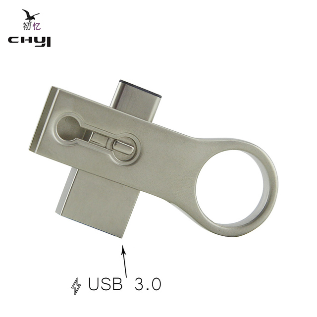 CHYI USB 3.0 OTG 2016 New Hot Fashion Pen Drives Flash Drives Type-C 3.1 USB Disk Memory Stick For Smartphone PC Computer Tablet