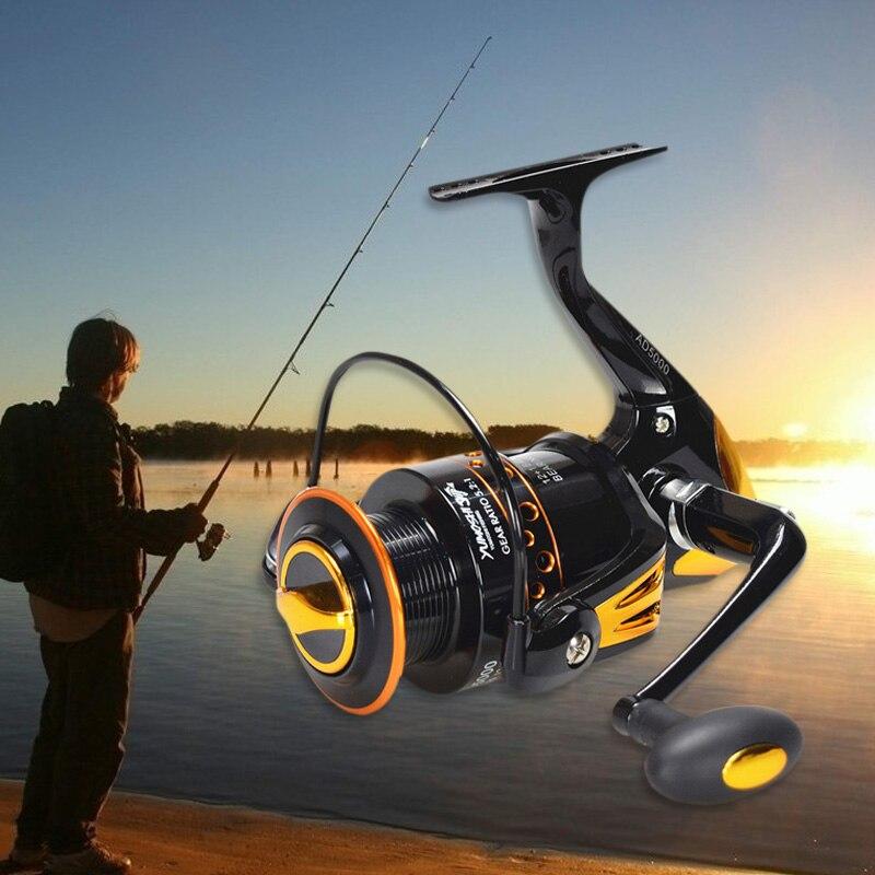 Spinning Fishing Reel Metal CNC Machined Handle 12+1 BB Ball Bearing Wheel Fish Tools AD2000-9000 ASD88