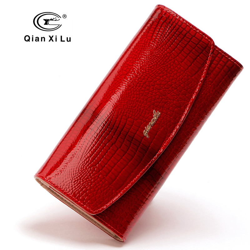 Qianxilu New Brand Designer Women Purses 3Fold Leather Fashion Wallets Clutch Lady Party Wallet Female Card Holder High Quality