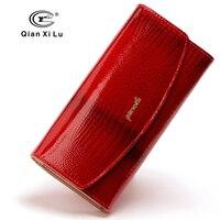 Qianxilu yeni marka tasarımcı kadın cüzdanlar 3 kat deri moda cüzdan debriyaj lady parti cüzdan kadın kart tutucu yüksek kalite