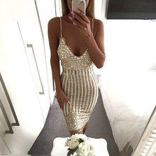 2017 Леди лето сексуальный вечеринку блесток платье V-образным вырезом женщин элегантные старинные платья сверкающих золотыми блестками цветочные кружева платье
