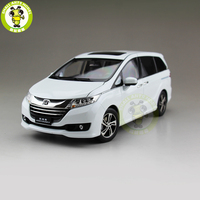 1/18 Honda Odyssey MPV Commercial vehicle Diecast Metal Car SUV MPV Model Toys Boy Girl Gift Collection Hobby White