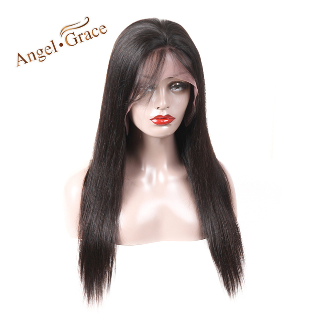 Peruvian Straight Human Hair Wigs Angel Grace Lace Front Humain Hair