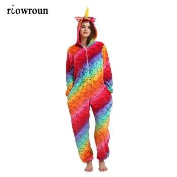 Для женщин Пижама Kigurumi Хэллоуин взрослых животных фланелевые пижамы  набор наклейка с Пикачу Единорог панда мультфильм 7a0eda02ab4c0