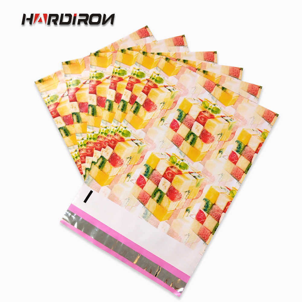 HARDIRON 60pcs 10x13 inch Bow-knot Poly Mailer Mailing Bags Printed Envelope Pouch Plastic Heat Seal Glue Express Sack Self-Adhe
