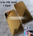 Бесплатные DHL 24 К Золото Корпус для Iphone 6 6 s 6 Plus Корпус 7 стиль 24 К Золото как 7 for 6 4.7 5.5 Средний Кадр Выгравировать слова и Логотип