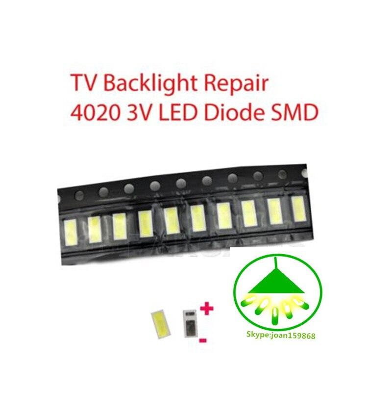 ✅ 10pcs LED 4020 0,5W 3V 48LM SMD LED Backlight TV