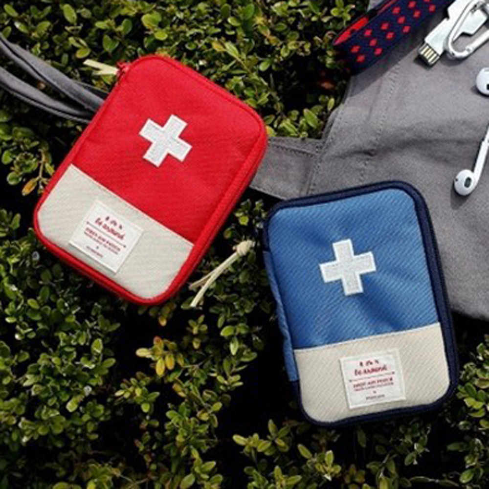 2019 1PC Portable Outdoor Travel First Aid kit Medicine bag Storage bag Home Small Medical box Emergency Survival Pill Case