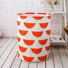 Folding Laundry Basket Cartoon Storage Barrel Standing Toys Clothing Bucket Organizer Holder Pouch Household