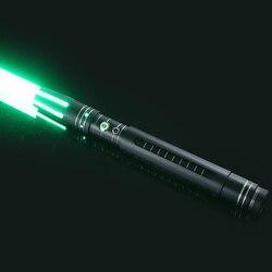 LGTOY 11 colores sable de luz espada de metal desmontable RGB láser Cosplay Dueling juguete intermitente para niños regalo creativo sable de Star Wars Juguetes
