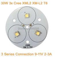 30W Cree XLamp 3 Series XM L2 XML2 T6 blanco frío blanco cálido blanco neutro blanco luz LED 9 11V 2 3A en 50mm PCB Board para linterna|xm-l2 xml2 t6|xml2 t6|neutral white -