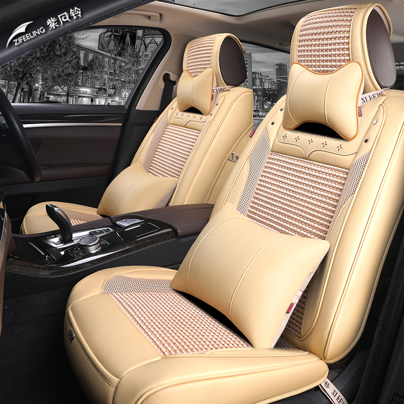 (Front + Rear) Special Leather car seat covers For Cadillac SLS ATSL CTS XTS SRX CT6 ATS Escalade auto accessories car styling