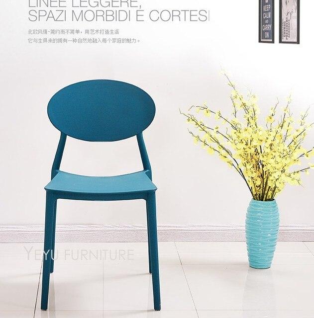 Minimaliste Moderne Design En Plastique PP Cote Salle A Manger Chaise Meubles De Maison