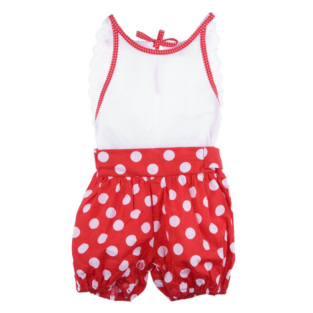 Cute Baby Girl Jumpsuit Newborn Dotted Rompers 100 Cotton Toddler Kids One piece Body Suit font
