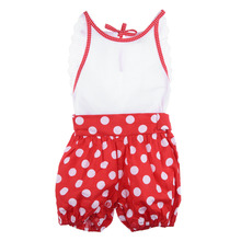 Cute Baby Girl Jumpsuit Newborn Dotted Rompers 100% Cotton Toddler Kids One piece Body Suit Suspender Trousers 3M-2T Overalls