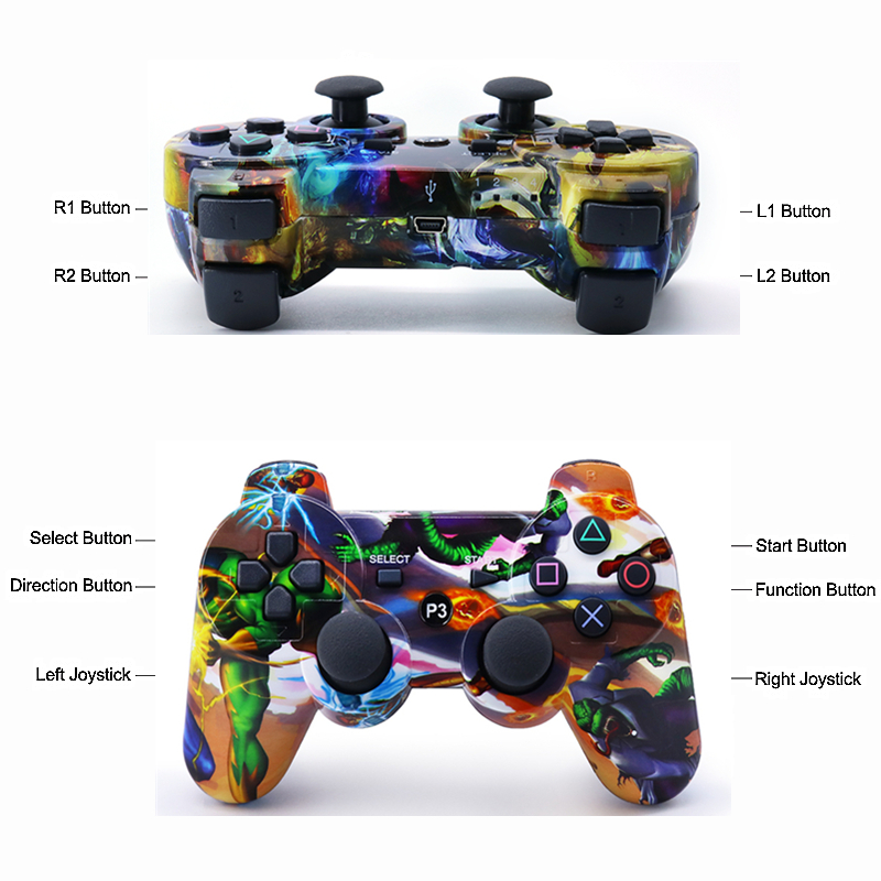 Image 4 - Compatible Ps3 Gamepad Bluetooth Controller Joystick Vibrator SIXAXIS Compatible Playstation 3 Wireless Gamepad ps3-in Gamepads from Consumer Electronics