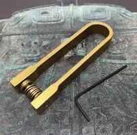 Titular da chave de viagem ao ar livre  armazenamento conveniente chave de cobre simples fivela EDC