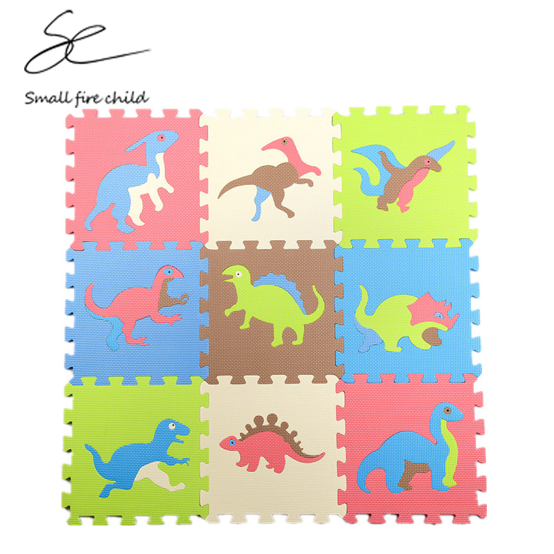 New Arrival 30*30CM EVA Puzzle Carpet Baby Play Mat Floor Dinosaur Puzzle Mat Children Foam Carpet Floor Baby Crawl Toy