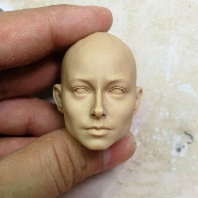 1/6 European Beauty Women Unpainted Head Sculpt for 12''Bodies Figures