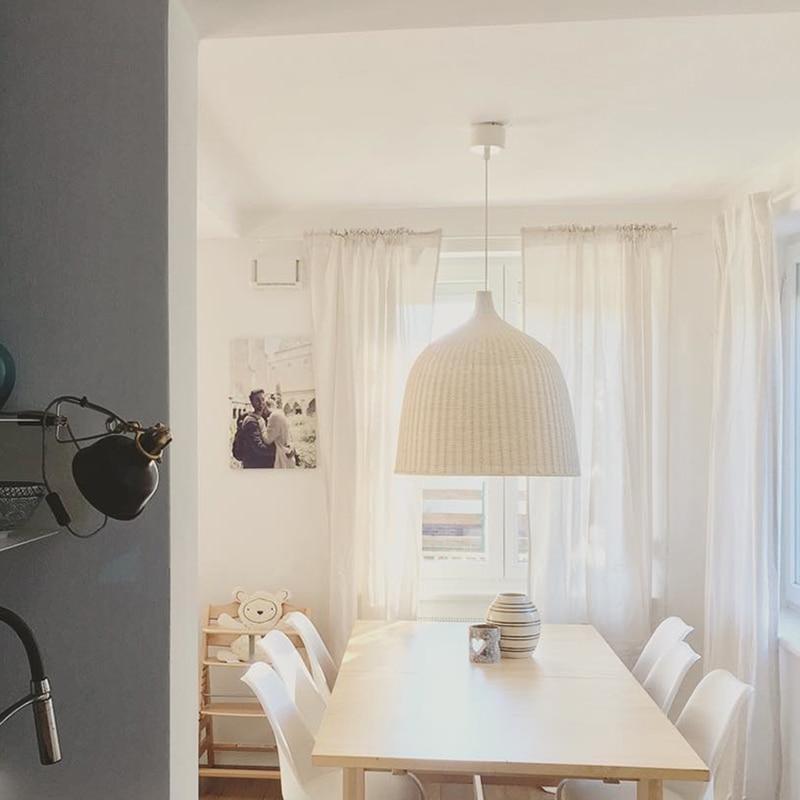 Modern Pendant Ceiling Lamps LED Pendant Lights Bamboo Deco Pending Lighting Dining Living Room Bedroom Hanging Light Fixtures in Pendant Lights from Lights Lighting