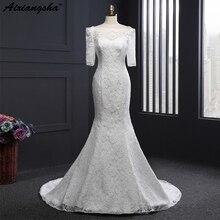 Simple And Cheap Beach Wedding Dress Long 2018 Vestidos de novia Off The Shoulder White Tulle Bridal Gown Vintage Lace Appliques