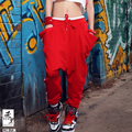 Hiphop Danza Pantalones Mujeres 2017 Nueva Moda Gota Entrepierna Harem Street Dance Pantalones Casuales Envío Gratis