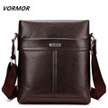 VORMOR Brand 2017 New fashion men bags leather business travel messenger bag Design men's shoulder bag