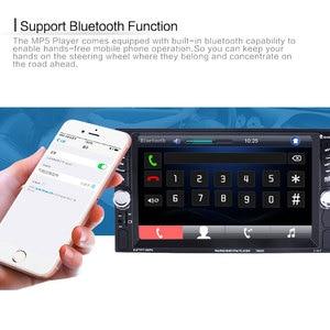 """Image 2 - Hikity 車の自動車メディアプレーヤー 2 din Autoradio USB Bluetooth FM カーラジオ Multimidia MP5 12 HD 7"""" 2din タッチスクリーンステレオラジオ"""