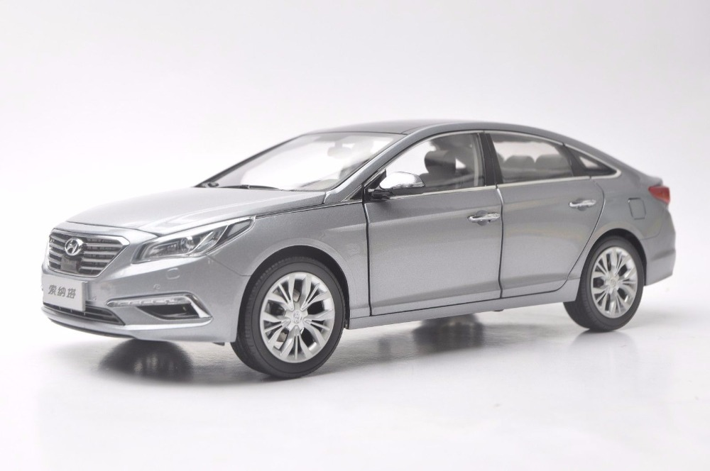 1:18 Diecast Model for Hyundai Sonata 9 Silver Alloy Toy Car Miniature Collection 9th Generation