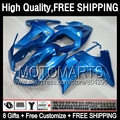 8Gift Stock blue+ For SUZUKI SV650S SV1000S 03-13 SV650 S 03 04 05 06 07 69JK22 Gloss blue SV1000 S 08 09 10 11 12 13 Fairing
