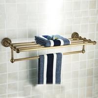 Brass Material Bronze Finish Towel Shelf