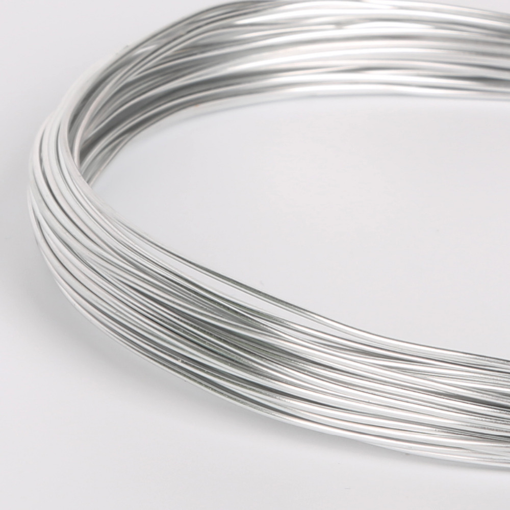 Sale Dia 1/1.5/2/2.5mm Silver Color Round Aluminum Soft Metal Craft Floristry Wire For DIY Jewelry Beads Making Findings 4 Size