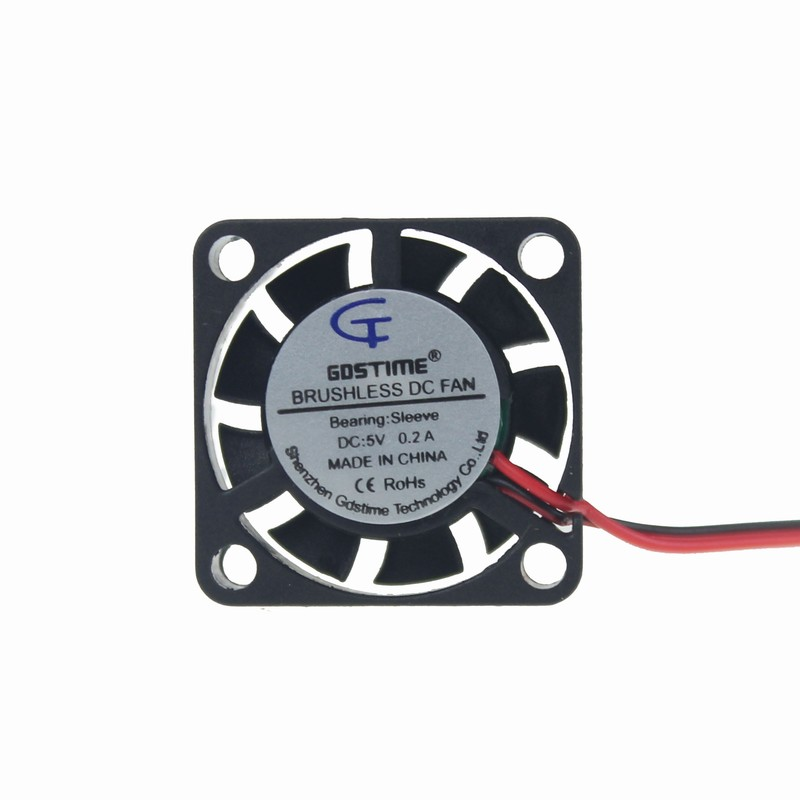 Gdstime 2 Pieces 5V 5 Volt 25mm 7mm <font><b>25x25x7mm</b></font> 2507S Small Micro Blushless DC Cooling <font><b>Fan</b></font> 2pin 2.0 image