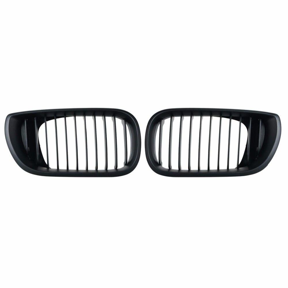 Матовый черный передняя почек гриль решетки для BMW E46 02-05 4 двери 4D 3 серии передний бампер автомобиля решетка для модификации BMW