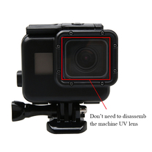Black Color Shell Underwater 60M Diving Waterproof Housing Case with Touch Screen Back Cover for Gopro Hero 7 6 5 Came telesin cool black waterproof case shell 45m underwater housing bacpac touched lcd screen backdoor cover for gopro hero 7 6 5