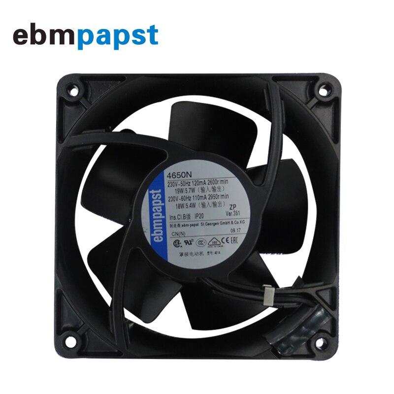 Original Ebmpapst 4650N 12038 230V 19W AC Axial Fan 12CM 120MM 120*120*38MM Cooling Fan