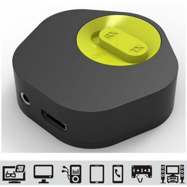 Durable Bluetooth 4.1 Transmissor ou Receptor de Música com microfone Recarregável bateria de lítio CSR8670 2em1 Música Hifi Dongle