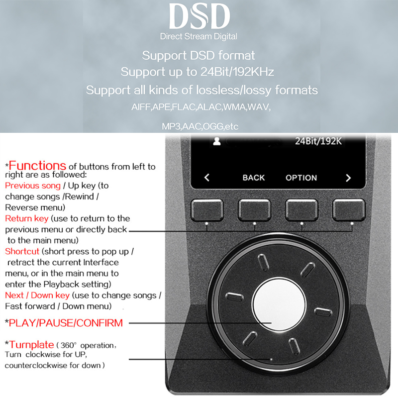 Image 4 - XDUOO X10 ハイファイポータブル高解像度ロスレス DSD 音楽プレーヤーアンプサポート光出力 24Bit/192 125khz OPA1612 pk X3music playerdap playerplayer music -