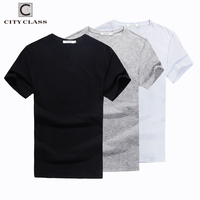 City Class 2017 Mens Summer Solid T Shirt Brand Clothing Cotton Comfortable Male T Shirt Tshirt
