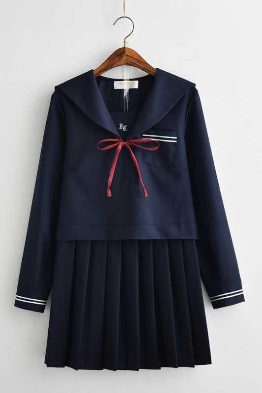 Miękkie siostra JK jednolite spódnica płatek śniegu granatowy marynarz garnitur klasy mundury mundury studentów ukończeniu studiów hotelu college wiatr garnitur