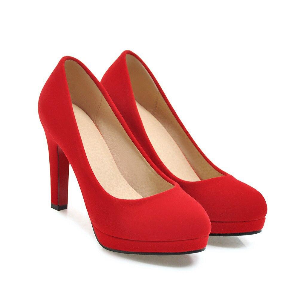 Automne Nouvelle 32 Printemps De Étanche rouge Stiletto La Bouche 43 Plate Avec Noir Super Et Mode Peu Chaussures Mariée Haute 1837 Taille Code forme Profonde CE5q5