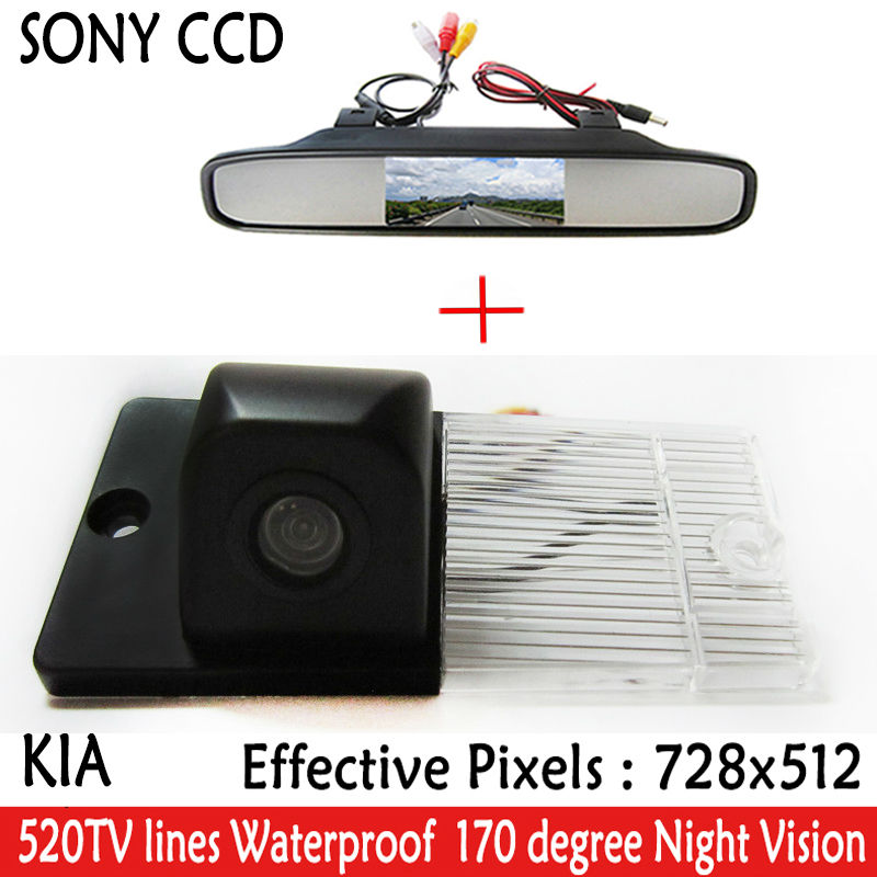 4.3 Inch TFT LCD Auto Car Rear View Mirror <font><b>Monitor</b></font> Parking + Night Vision Car Rearview Reverse HD Camer <font><b>for</b></font> <font><b>KIA</b></font> SORENTO SPORTAGE