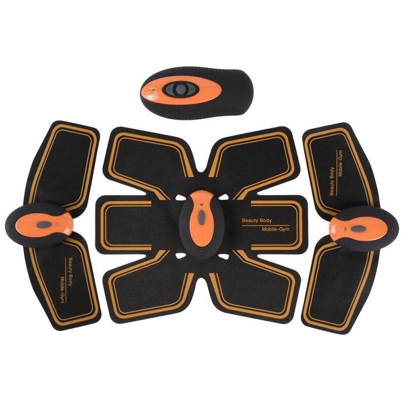 Plaque vibrante Ab De Toner Formateur Abdominale Tonification Formation Vitesse Sans Fil Électronique Muscle Système ABS Fit Abdomen Support de Bras