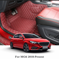 QCBXYYXH Leather Car Floor Mats For LHD MG6 2018 2019 Auto Foot Pads Automobile Carpet Cover Internal Accessories